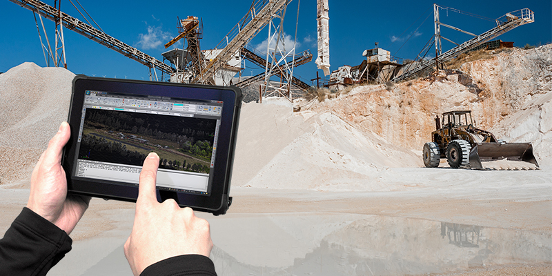 Rugged tablet for Construction